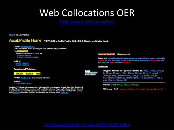 Web Collocations OER