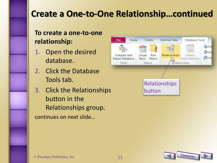 Create a One-to-One
