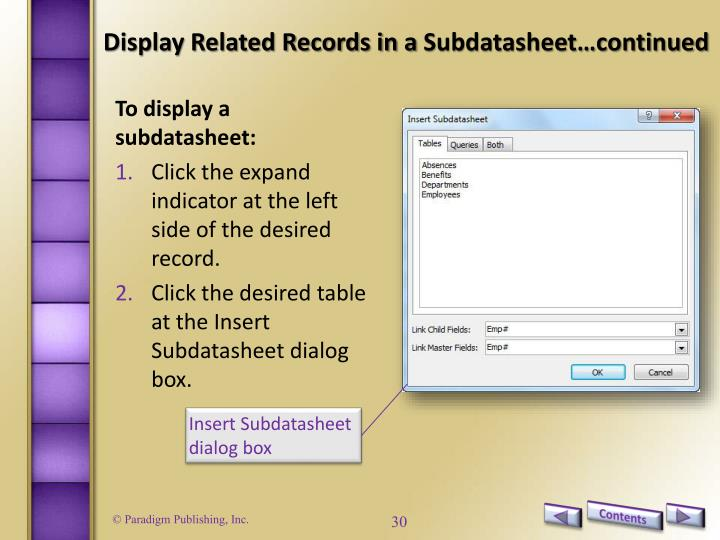 Display Related Records in a