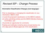 revised isp change process