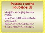 posters online noticeboards