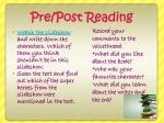 pre post reading