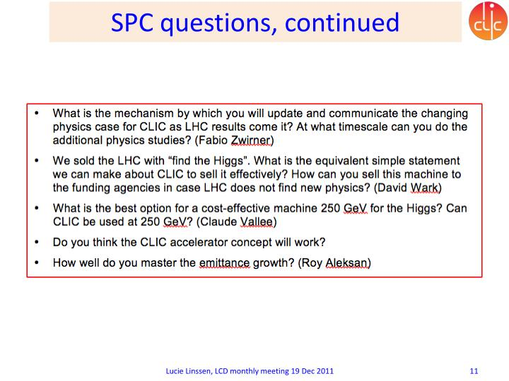 SPC questions, continued