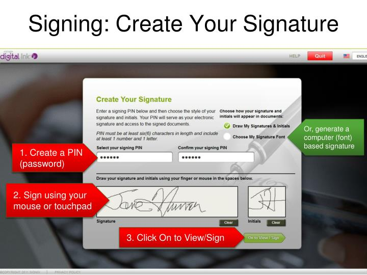 Signing: Create Your Signature