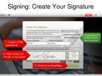 signing create your signature