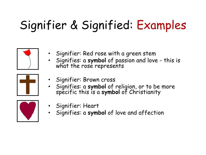Signifier & Signified: