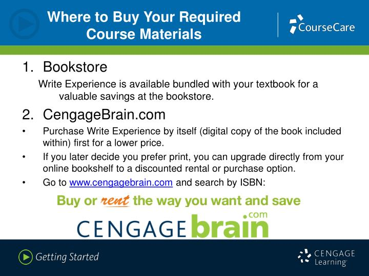Where to Buy Your Required Course Materials