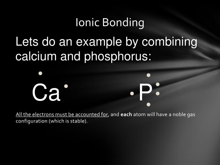 All the electrons must be accounted for