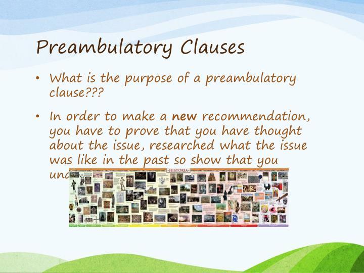Preambulatory