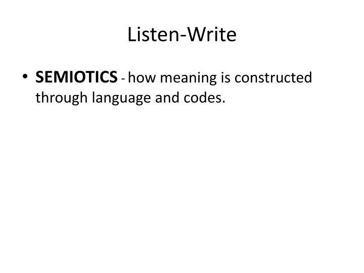 Listen-Write