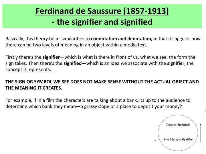 Ferdinand de Saussure (1857-1913)