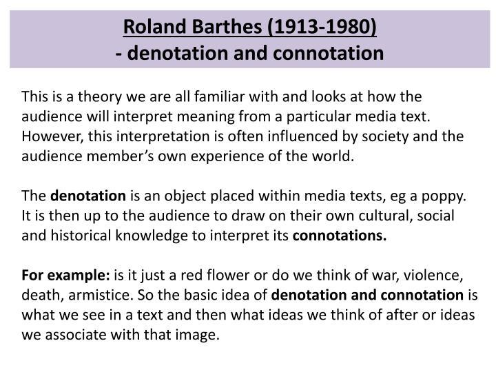 Roland Barthes (1913-1980)