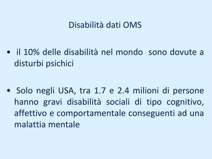 Disabilità dati OMS
