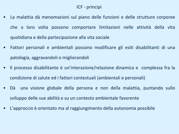 ICF - principi