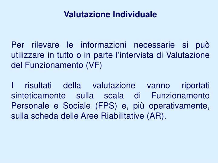 Valutazione Individuale