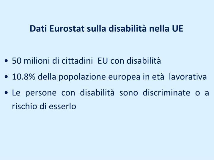 Dati Eurostat sulla disabilità nella UE