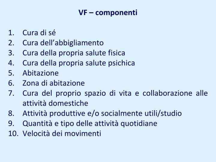 VF – componenti