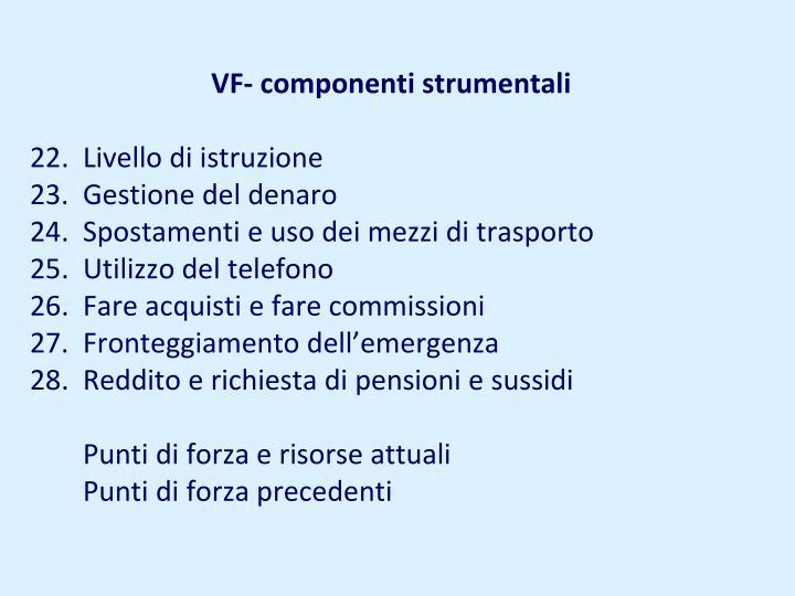 VF- componenti strumentali