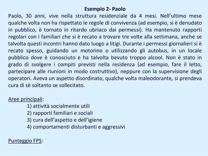 Esempio 2- Paolo