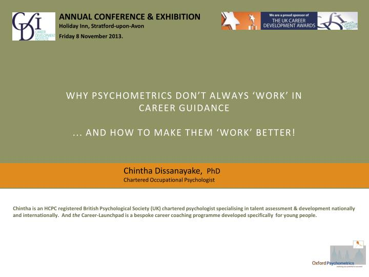Why psychometrics don t always work in career guidance and how to make them work better