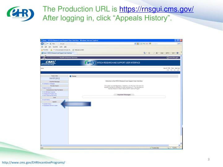 The Production URL is