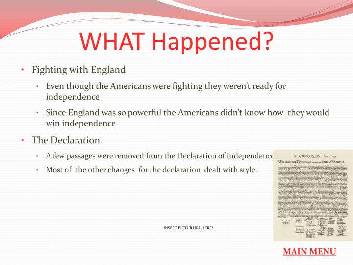 WHAT Happened?