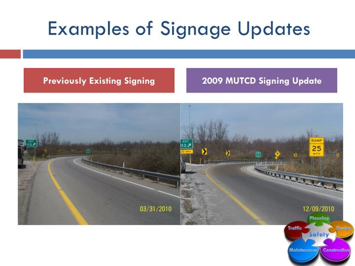 Examples of Signage Updates