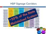 hsip signage corridors