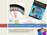 mutcd compliance date december 31 2019