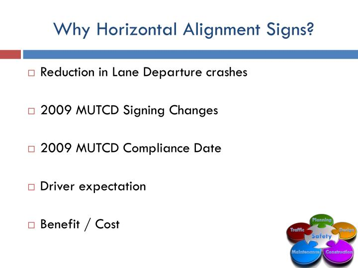 Why Horizontal Alignment Signs?