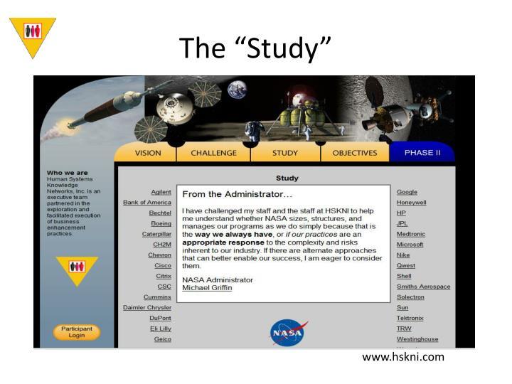 "The ""Study"""
