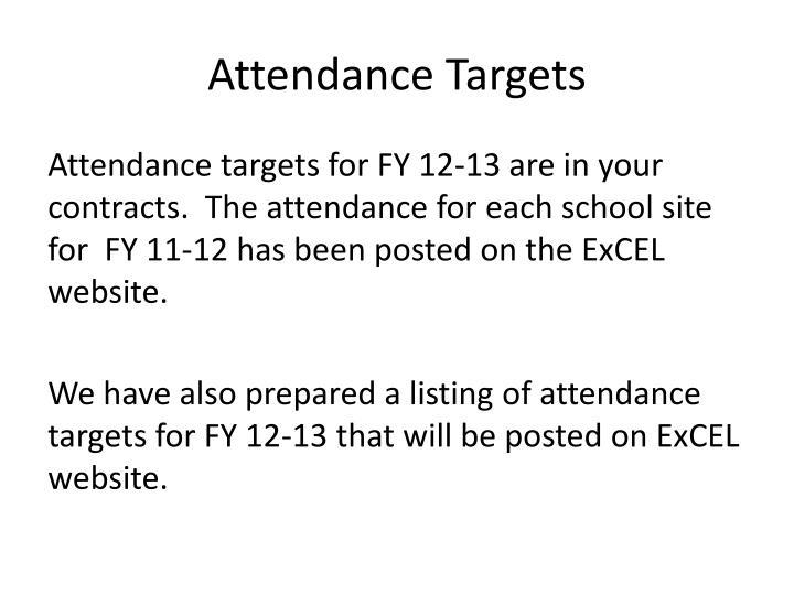 Attendance Targets