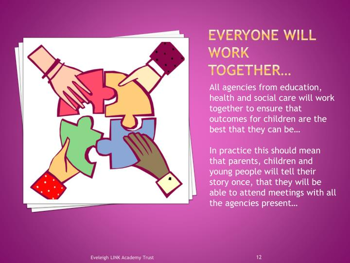 Everyone will work together…