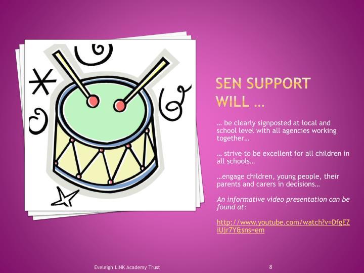 Sen support will …