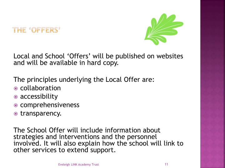 The 'offers'