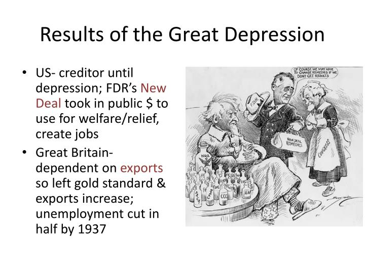 Results of the Great Depression