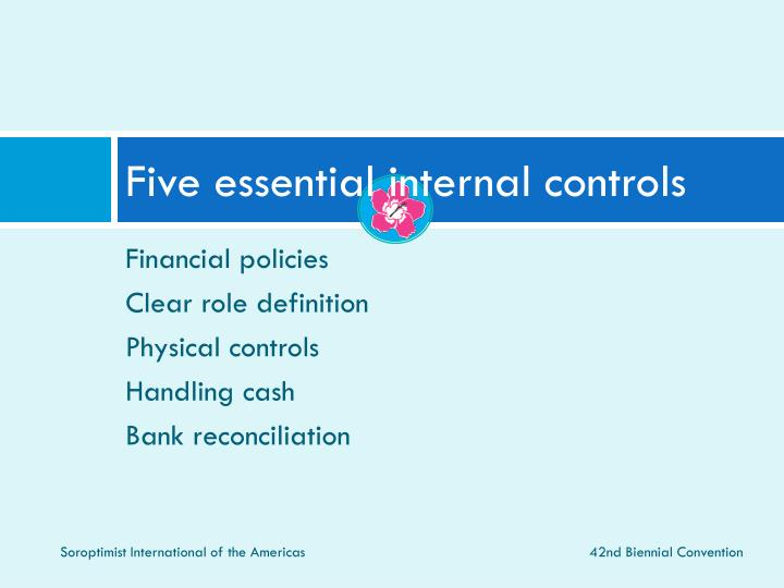 Five essential internal controls