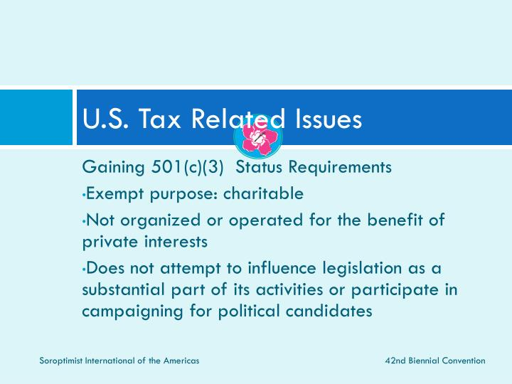 U.S. Tax Related Issues