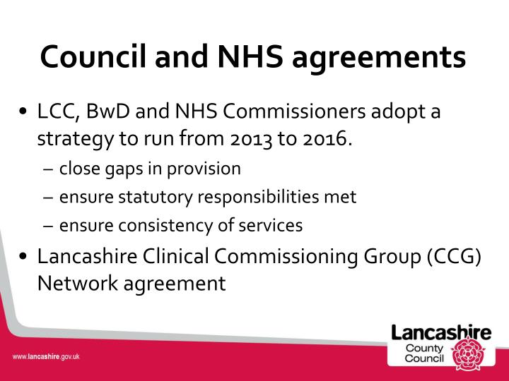 Council and NHS agreements