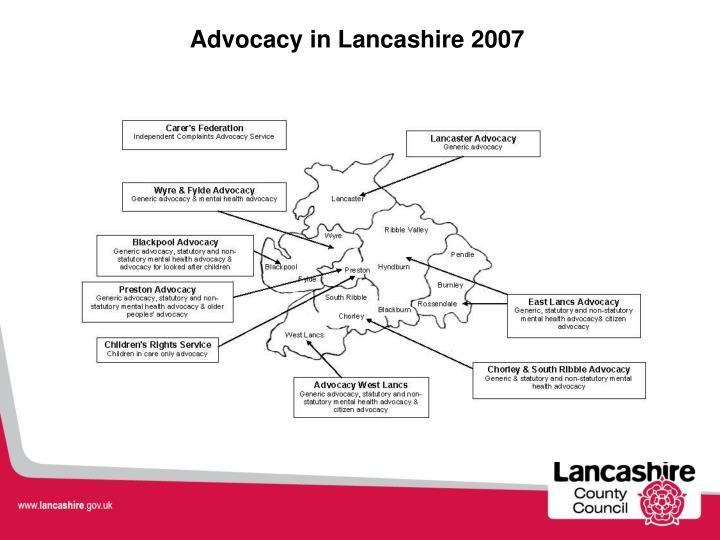 Advocacy in Lancashire 2007