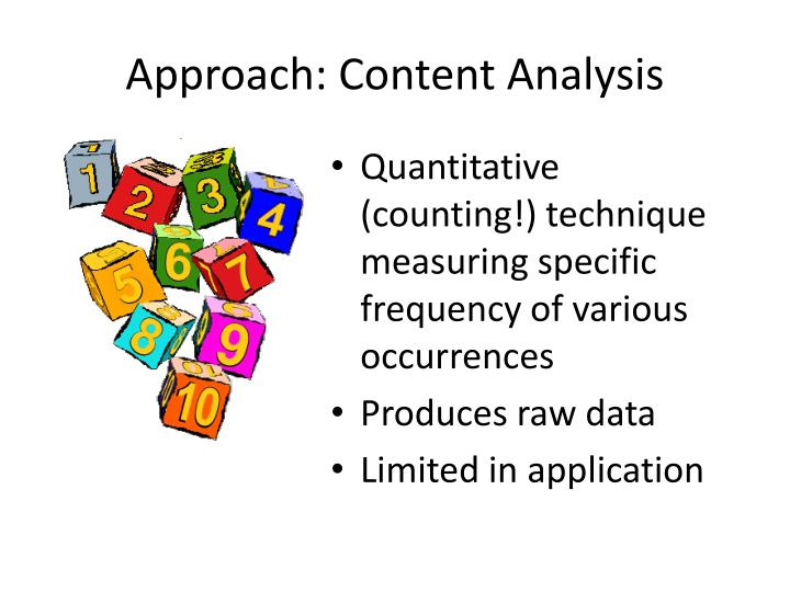 Approach: Content Analysis