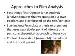 approaches to film analysis