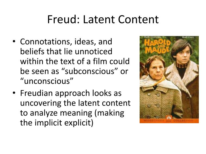Freud: Latent Content