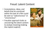 freud latent content