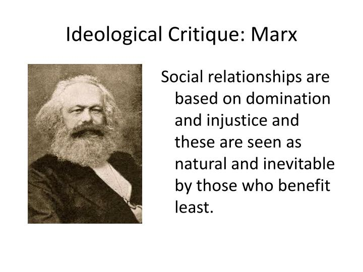 Ideological Critique: Marx