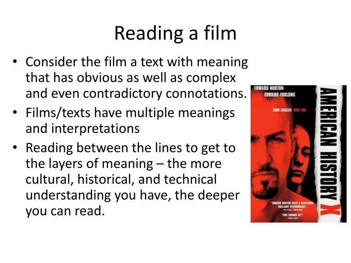 Reading a film