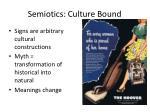 semiotics culture bound