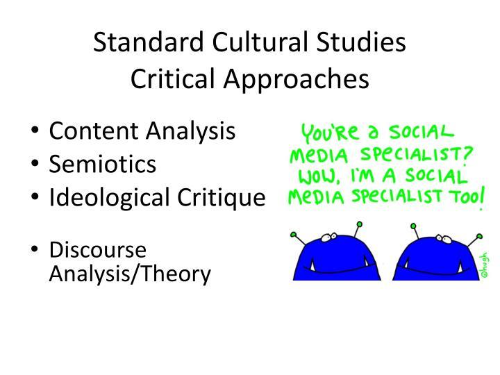 Standard Cultural Studies