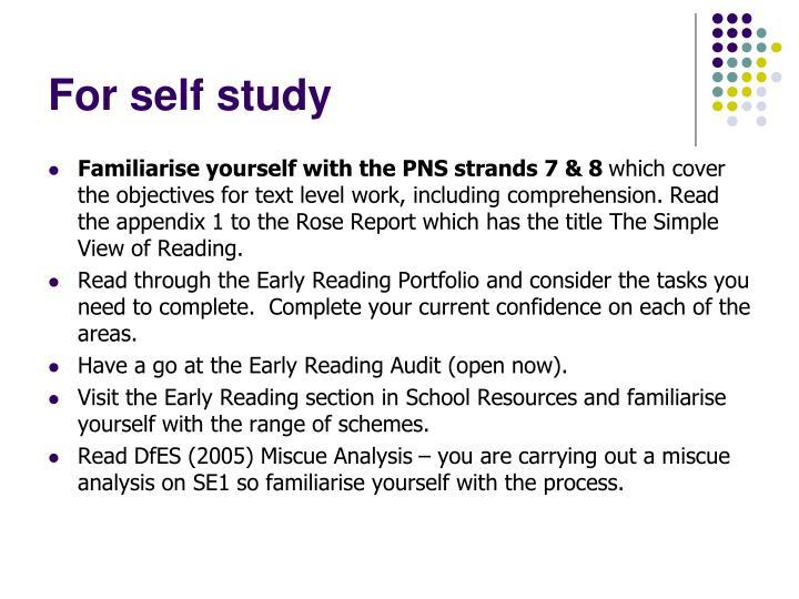 For self study