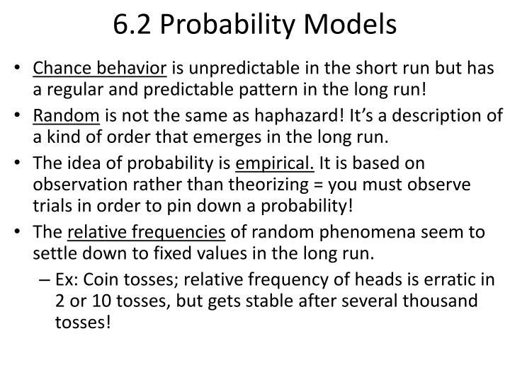6.2 Probability Models